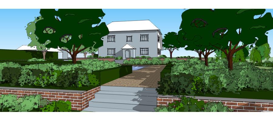 Garden design country garden in sussex paul lehmann for Garden house design west sussex